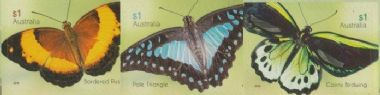 AUS SG4575-7 Beautiful Butterflies self-adhesive set of 3 from booklet (exSB549)